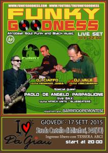 Manifesto PROMO FUNKY GOODNESS LIVE PARPA_GIAU_17-09-2015